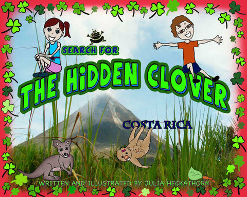 Costa Rica children's book cover illustration
