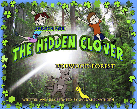 Redwood Forest children's book cover illustration