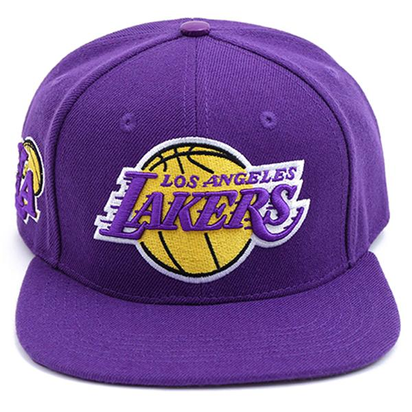 NBA Los Angeles Lakers Team Logo Leather Strap Adjustable Back Cap
