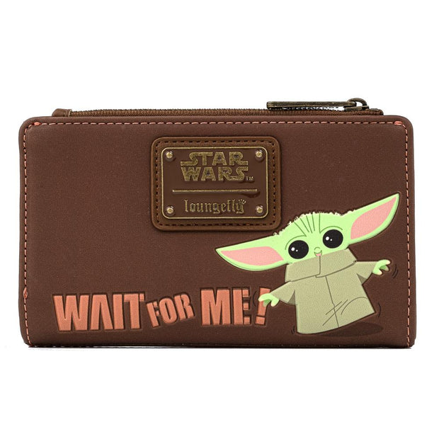 "Star Wars The Mandalorian The Child ""Wait for Me"" Bi-Fold Wallet"