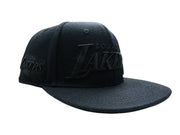 NBA Los Angeles Lakers Embroidered Text Logo Leather Strap Adjustable Back Cap
