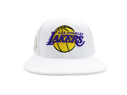 NBA Los Angeles Lakers Embroidered Team Logo Leather Strap Adjustable Back Cap