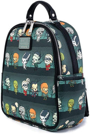 Universal Monsters Chibi Allover Print Mini Backpack