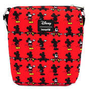 LOUNGEFLY X DISNEY MICKEY MOUSE PARTS AOP NYLON PASSPORT BAG - BACK