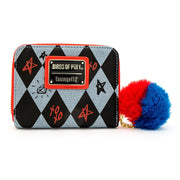 LOUNGEFLY X DC COMICS BIRDS OF PREY HARLEY EYES ZIP AROUND WALLET - BACK