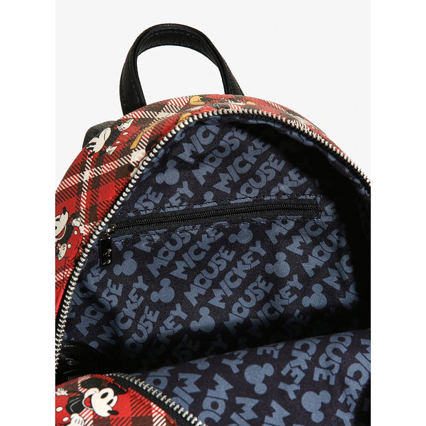 Loungefly x Mickey Mouse Plaid Mini Backpack - INSIDE PRINT