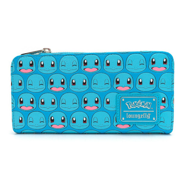 Loungefly x Pokemon Squirtle Faces Faux-Leather Flap Wallet - FRONT
