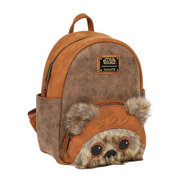 Loungefly Star Wars Ewok Faux Leather Mini Backpack - SIDE