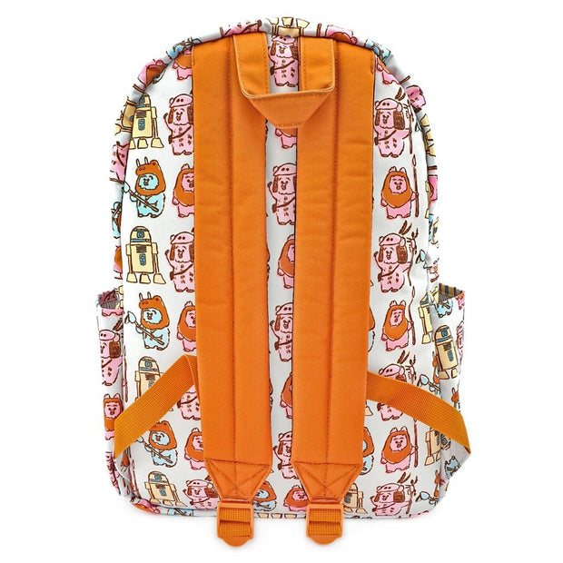 LOUNGEFLY X STAR WARS PASTEL YUB NUB EWOK AOP NYLON BACKPACK - BACK
