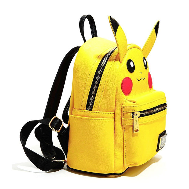 Loungefly x Pokemon Pikachu Face Mini-Backpack - SIDE