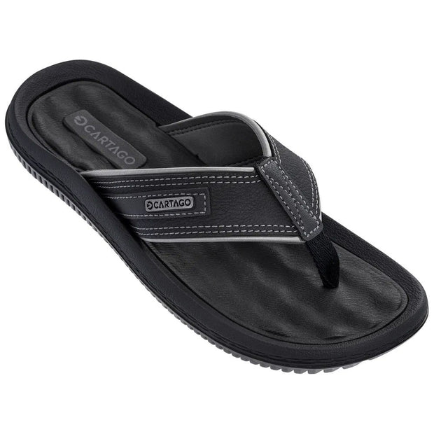 CARTAGO DUNAS II MEN'S SANDALS - BLACK GREY FRONT