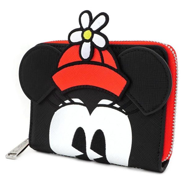 LOUNGEFLY X DISNEY POSITIVELY MINNIE POLKA DOT ZIP AROUND WALLET - SIDE