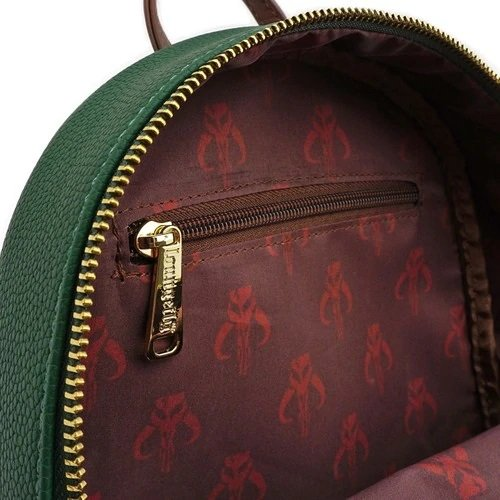 Loungefly Star Wars Boba Fett Faux Leather Mini Backpack - INSIDE PRINT