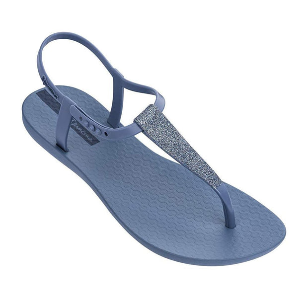 IPANEMA WOMENS SHIMMER SANDAL - BLUE FRONT