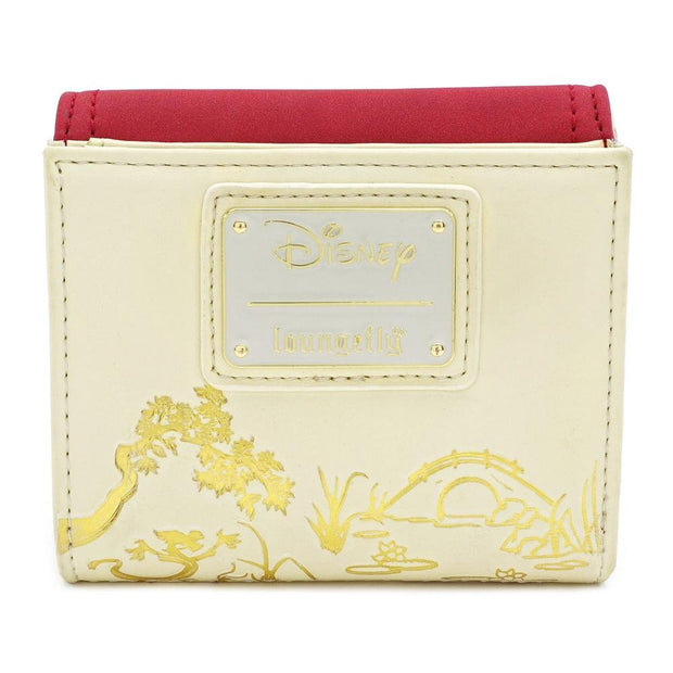 Loungefly x Disney Mulan Bamboo Lock Faux-Leather Wallet - BACK