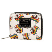 LOUNGEFLY X MICKEY RAINBOW PRINT WALLET - SIDE