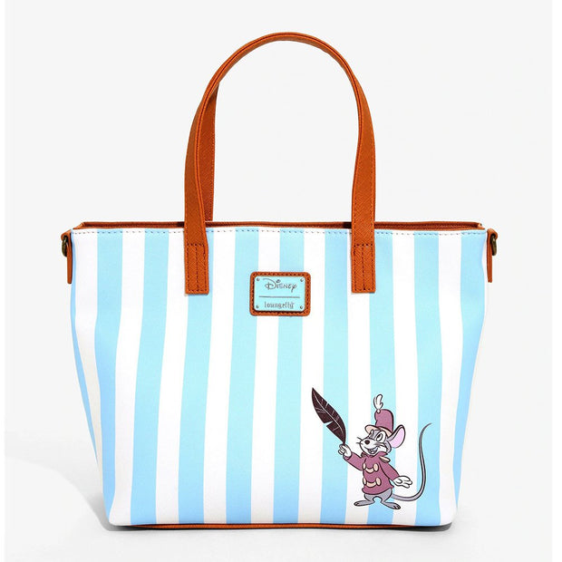 Loungefly x Disney Dumbo Striped Tote Bag with Crossbody Strap - BACK