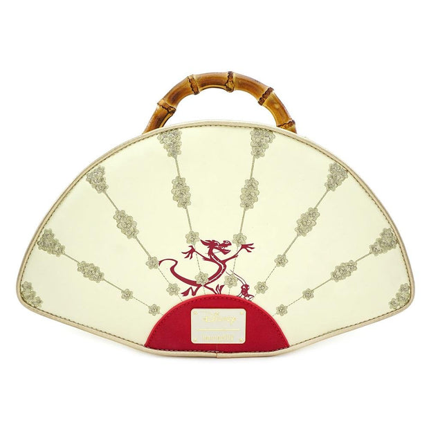 LOUNGEFLY X DISNEY MULAN BAMBOO HANDLE FAN HANDBAG - BACK