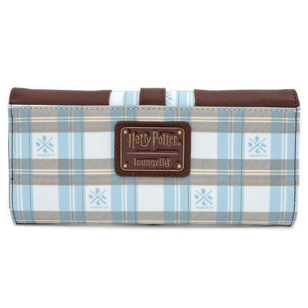 LOUNGEFLY X HARRY POTTER HOGWARTS PLAID FLAP WALLET - BACK