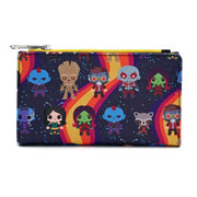 LOUNGEFLY X MARVEL GUARDIANS OF THE GALAXY CHIBI LINE-UP WALLET - BACK
