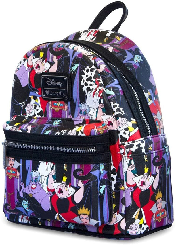 Disney Villains Allover Print Mini Backpack