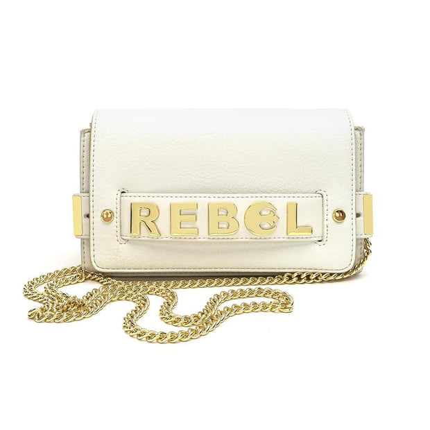 LOUNGEFLY X STAR WARS GOLD CHAIN REBEL CLUTCH CROSSBODY BAG - FRONT