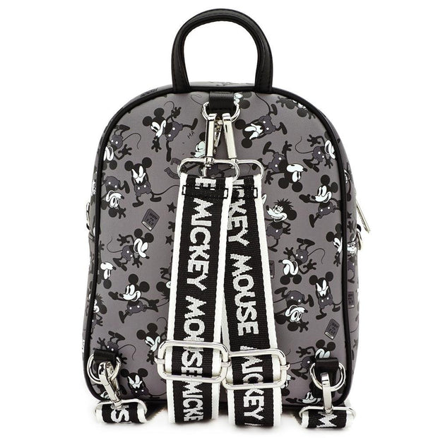 LOUNGEFLY X DISNEY MICKEY MOUSE PLANE CRAZY MINI BACKPACK - BACK