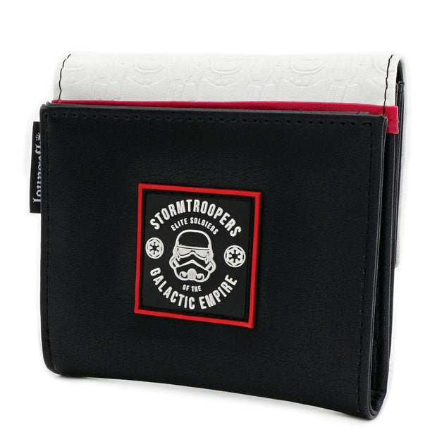 LOUNGEFLY X STAR WARS WHITE TROOPER WALLET - SIDE