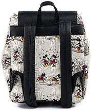 Disney Mickey & Minnie Allover Print Bow Hardware Mini Backpack