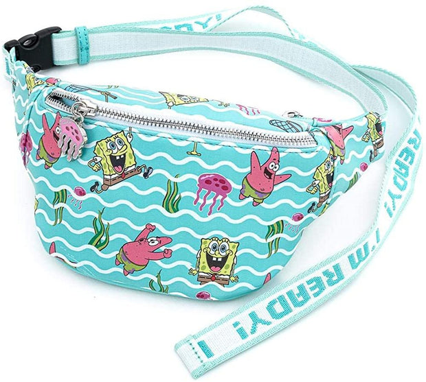 Nickelodeon SpongeBob Jelly Fishing Allover Print Fanny Pack