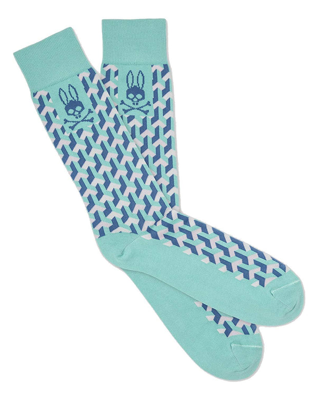 Mens Geo Pattern Crew Sock