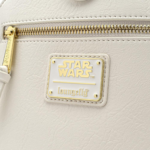 LOUNGEFLY X STAR WARS GOLD CHAIN REBEL -  LOGO DETAIL