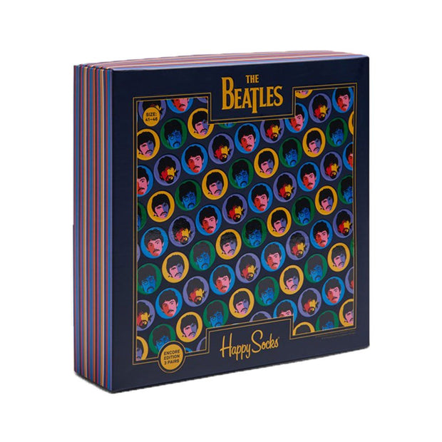 The Beatles Retro Socks Box Set - 3-Pack