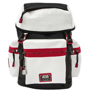 LOUNGEFLY X STAR WARS WHITE TROOPER DEBOSSED BACKPACK - FRONT