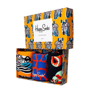Safari Animals Socks Gift Box Set - 3-Pack