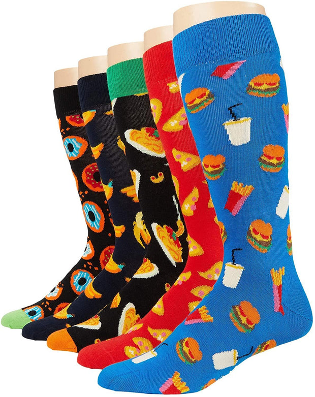 Food Lover Socks 5-Pack Gift Set