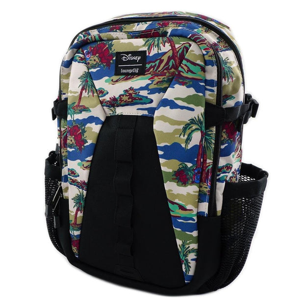 LOUNGEFLY X LILO AND STITCH CAMO NYLON BACKPACK - SIDE