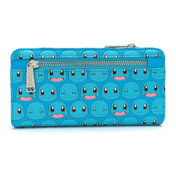 Loungefly x Pokemon Squirtle Faces Faux-Leather Flap Wallet - BACK