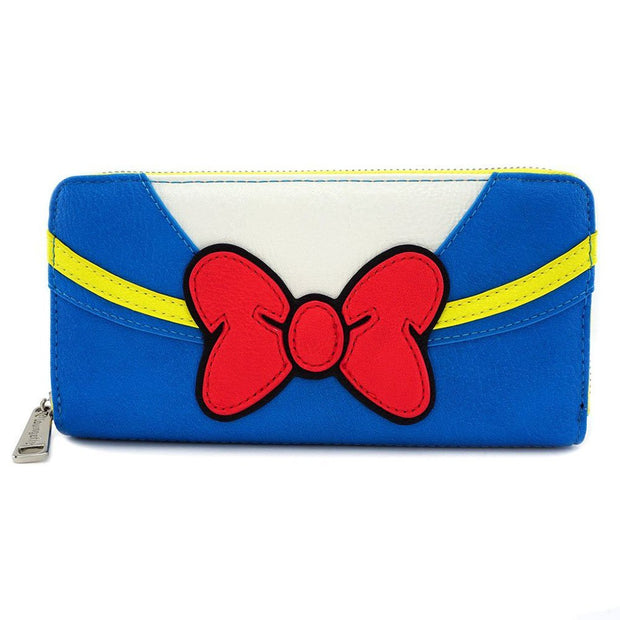 Loungefly x Disney Donald Duck Zip-Around Wallet - FRONT