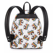 Loungefly Disney's Mickey Mouse Rainbow Mini Backpack - BACK
