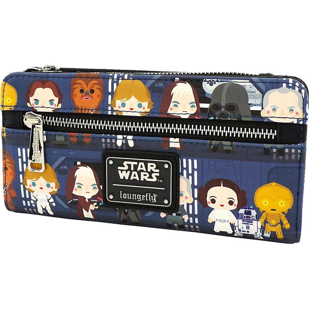 Loungefly x Star Wars Death Star Chibi Characters Printed Wallet - SIDE