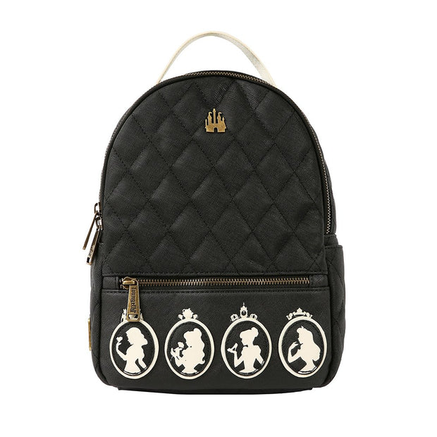 Loungefly Faux Leather Disney Princesses Silhoutte Backpack - FRONT