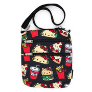 Sanrio Hello Kitty Snacks Allover Print Nylon Passport Bag
