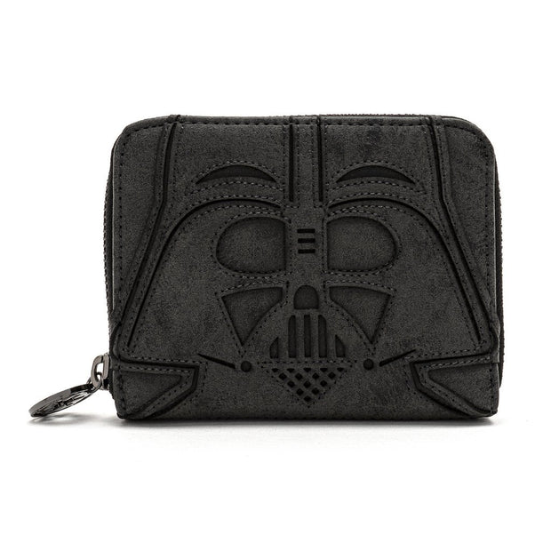 Loungefly x Star Wars Darth Vader Head Zip-Around Wallet - FRONT