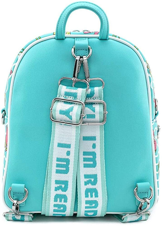 Nickelodeon SpongeBob Jelly Fishing Allover Print Convertible Mini Backpack