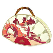 LOUNGEFLY X DISNEY MULAN BAMBOO HANDLE FAN HANDBAG - SIDE