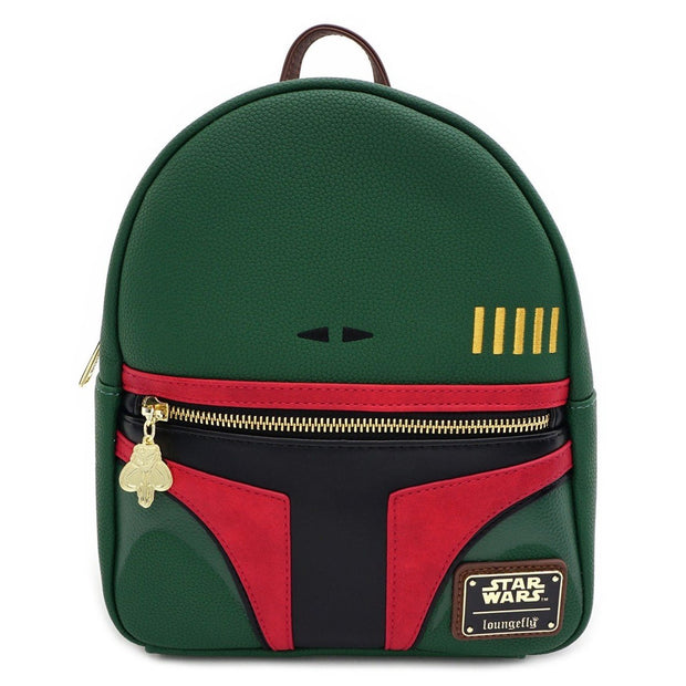 Loungefly Star Wars Boba Fett Faux Leather Mini Backpack - FRONT
