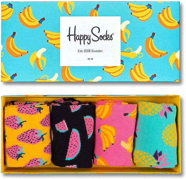 Happy Socks Fruit Socks 4-Pack Gift Box