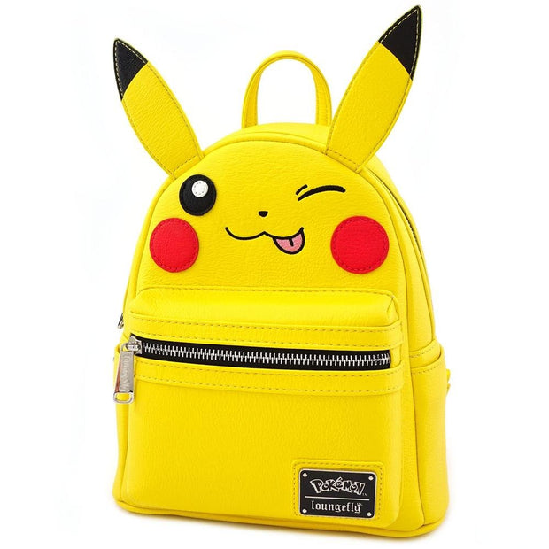 LOUNGEFLY X POKEMON PIKACHU WINK COSPLAY MINI BACKPACK - SIDE