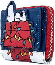 Peanuts Snoopy Christmas Zip-Around Wallet